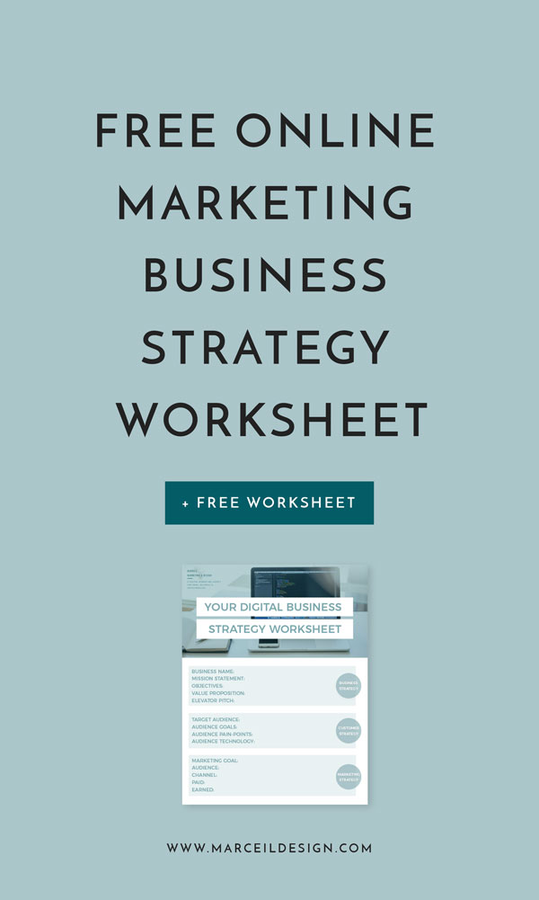 Free Online Marketing Business Strategy Worksheet