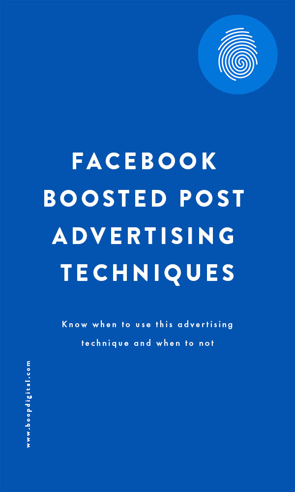 Facebook Boosted Post Advertising Techniques